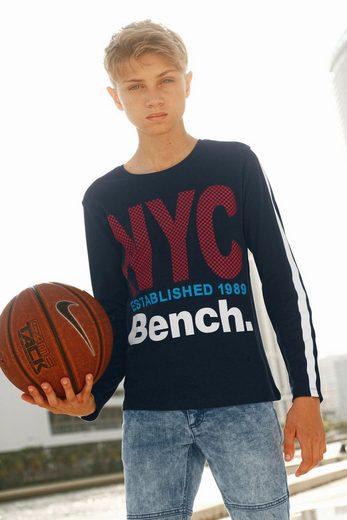 Bench. Langarmshirt »NYC Druck, Interlockshirt«