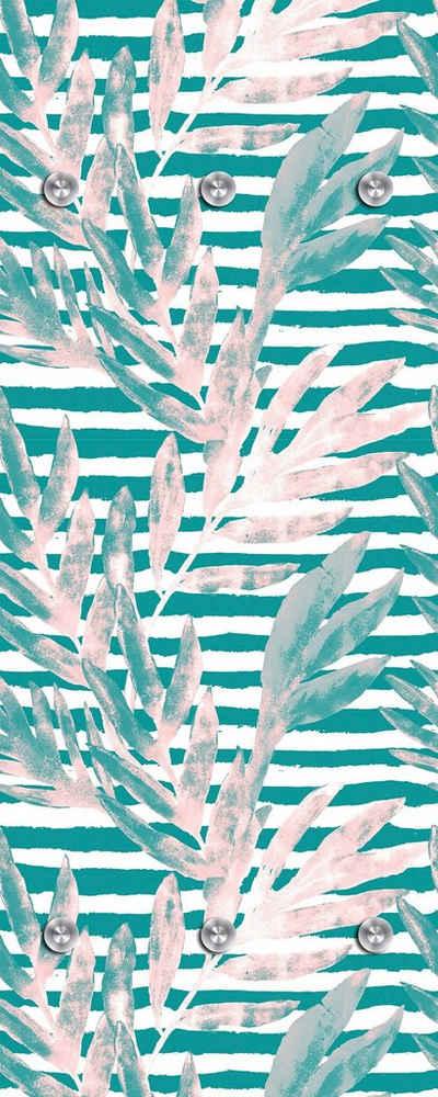 queence Garderobenpaneel »Tropisch«, mit 6 Haken, 50 x 120 cm
