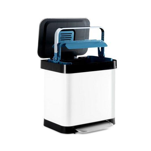 Klarstein Mülleimer »Trash Inn Tretmülleimer 30 Liter Geruchsfilter Edelstahl«