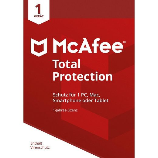 PC McAfee Total Protection 1 Jahres-Lizenz Device 2019 (Code