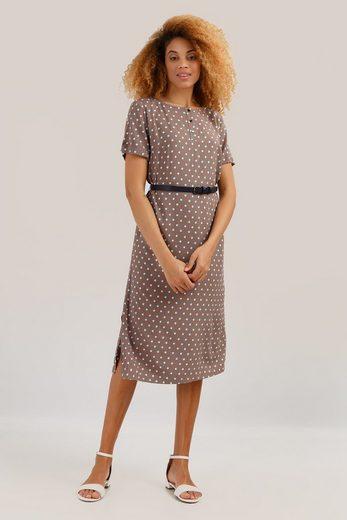 Finn Flare Jerseykleid mit stylischem Pünktchenmuster