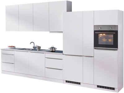 HELD MÖBEL Küchenzeile »Cannes«, mit E-Geräten, Breite 390 cm