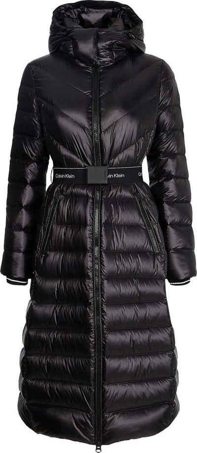 Calvin Klein Daunenmantel »LOFTY REAL DOWN XL COAT« in leicht glänzender Optik mit Calvin Klein Logo-Gürtel