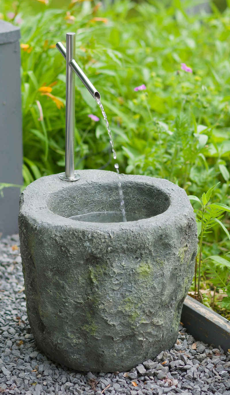 AcquaArte Gartenbrunnen »Sacramento«, 40 cm Breite, Wasserbecken BxT: 40x40 cm