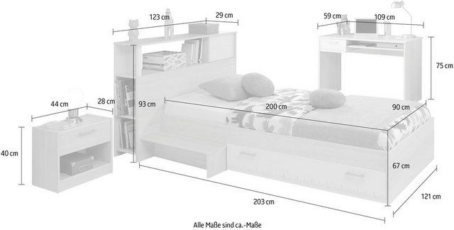 Komplettzimmer - Parisot Jugendzimmer Set »Charly 11«, (Set, 4 St), mit einem Schreibtisch  - Onlineshop OTTO
