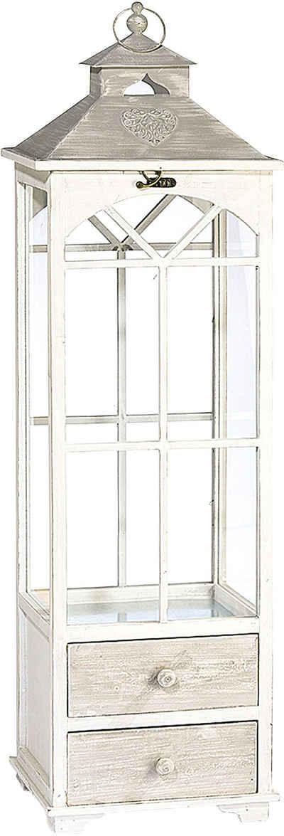 GILDE Laterne »Finestra« (1 Stück), Aus Holz, Höhe ca. 112 cm