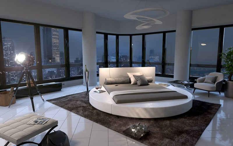 SAM® Rundbett »Nostal«, Design Rundbett Hotelbett Luxusbett mit Chromfüßen