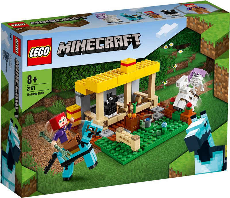 LEGO® Konstruktionsspielsteine »Der Pferdestall (21171), LEGO® Minecraft™«, (241 St), Made in Europe