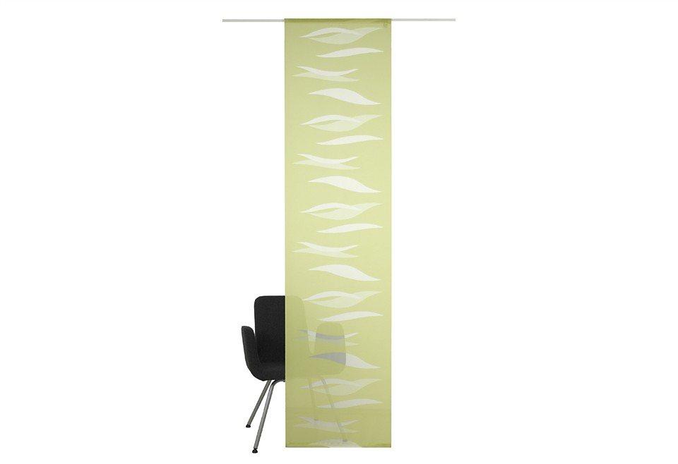 Schiebegardine, Deko Trends, »Hanna«, mit Klettband (1 Stück mit Zubehör) in grün/natur