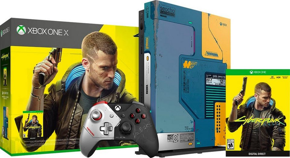 xbox one x 1tb cyberpunk limited edition kaufen otto. Black Bedroom Furniture Sets. Home Design Ideas