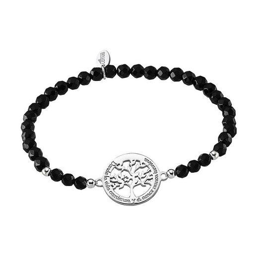 LOTUS SILVER Silberarmband »JLP1641-2-2 Lotus Silver Lebensbaum Armband« (Armbänder), 925 Sterling Silber Lebensbaum, Farbe: silber, schwarz