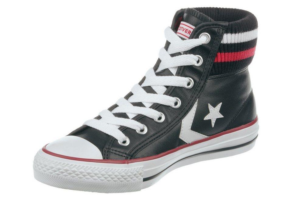 Converse Star Player Cuff Sneaker in Schwarz