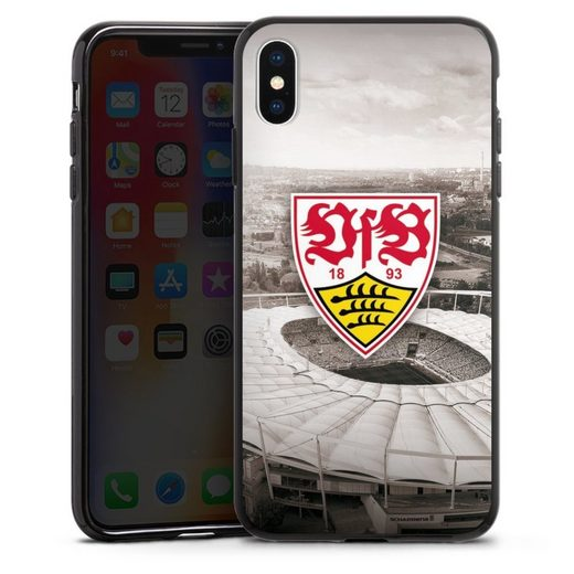 DeinDesign Handyhülle »VfB Stadion grau« Apple iPhone Xs Max, Hülle VfB Stuttgart Offizielles Lizenzprodukt Stadion