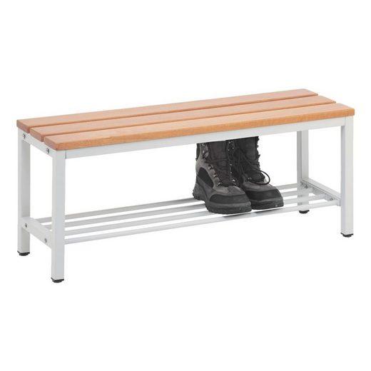 Sitzbank 1 m, mit Schuhrost