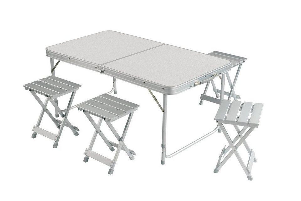 Grand canyon camping tisch alu koffertisch 4er set online kaufen otto - Esszimmerstuhle 4er set ...