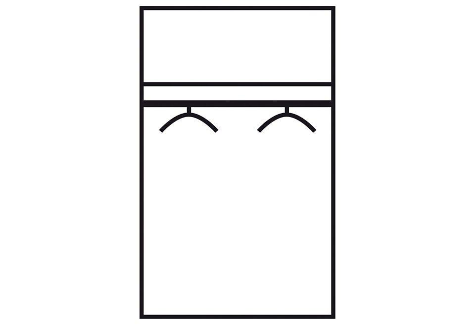 Kleiderschrank in nussbaumfarben/anthrazit