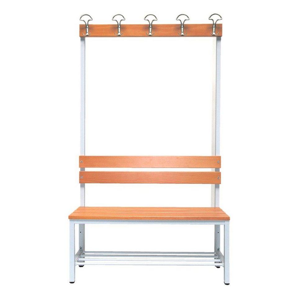 sitzbank 1 m mit hakenleiste garderobe und schuhrost. Black Bedroom Furniture Sets. Home Design Ideas