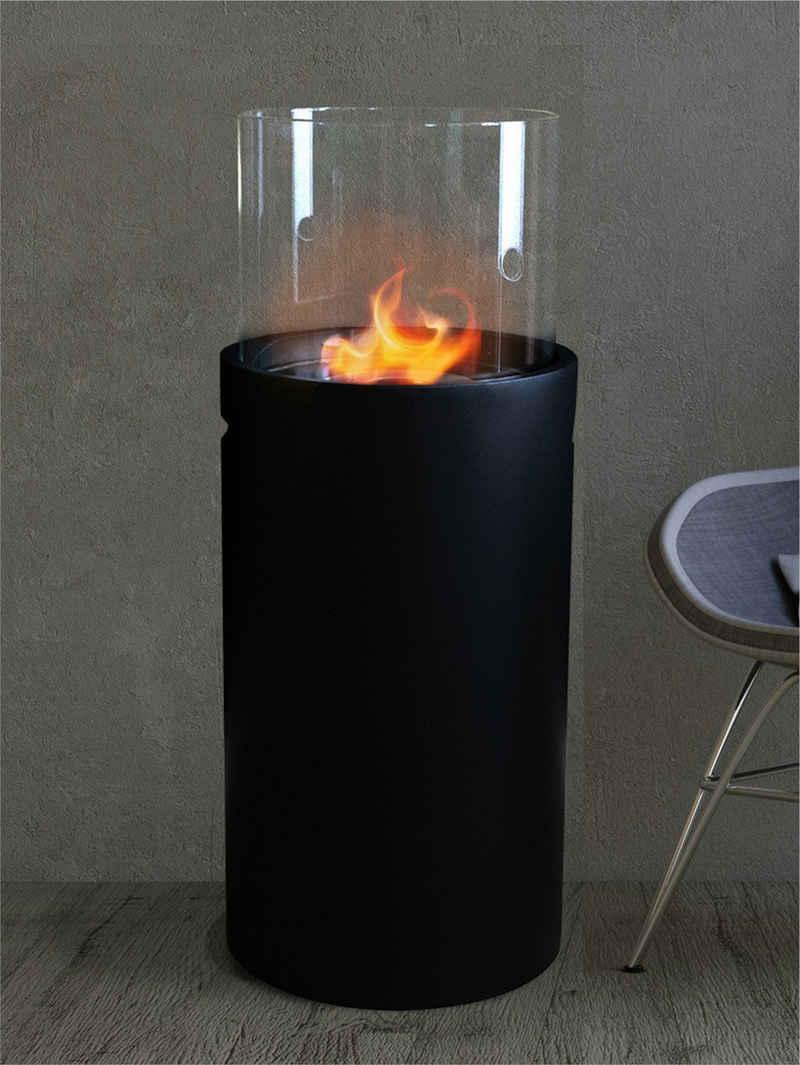 Moritz Echtfeuer-Dekokamin »3004055«, schwarz, Feuerstelle Ethanolbrenner Glasfeuer Terrassenfeuer