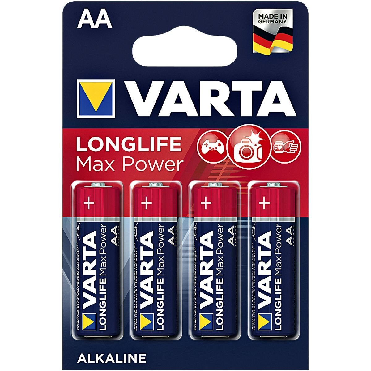 Varta 4er-Pack Batterien »Max Tech« Mignon / AA / LR06
