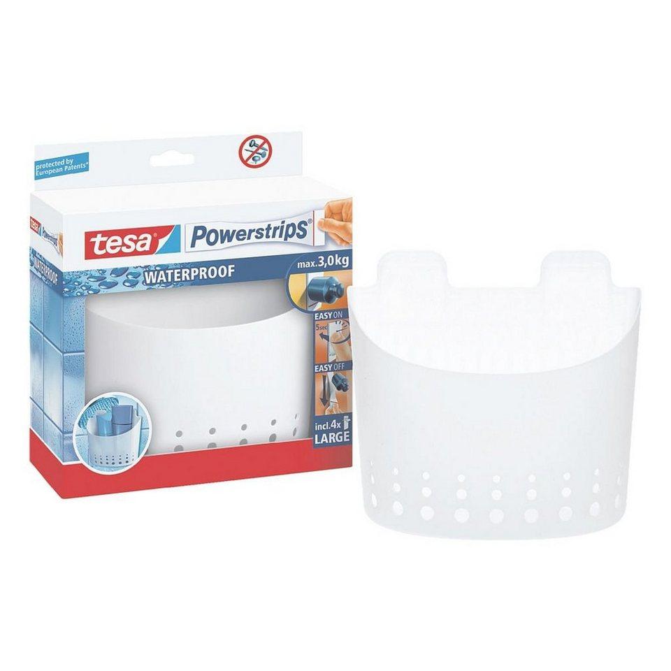 tesa Badezimmerkorb »Powerstrips Waterproof, groß«