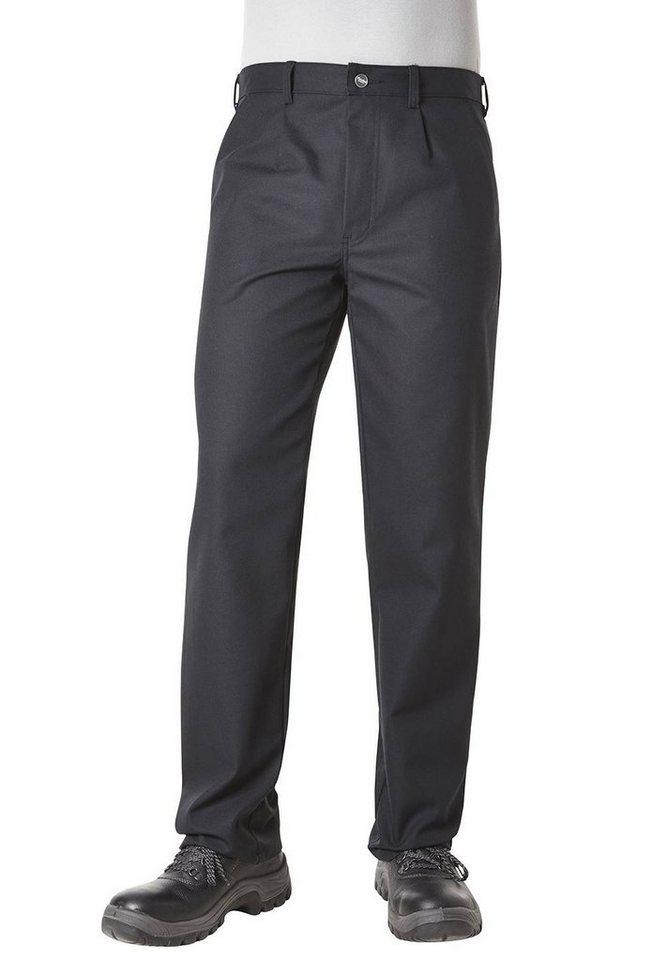 Pionier ® workwear Bundhose mit Bundfalte Top Cotton in schwarz
