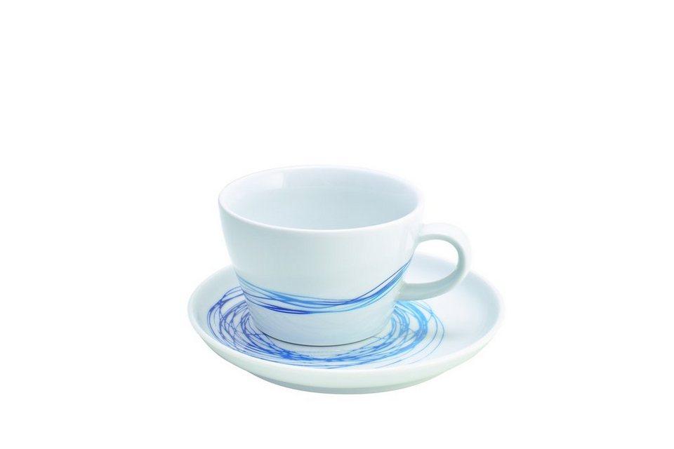 Kahla Set: Cappuccino-Gedeck 2-tlg »Five Senses Whirl« in Blau, Türkis