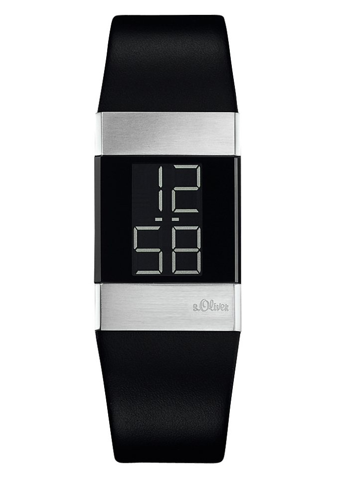 s.Oliver RED LABEL Digitaluhr »SO-1125-LD« in schwarz