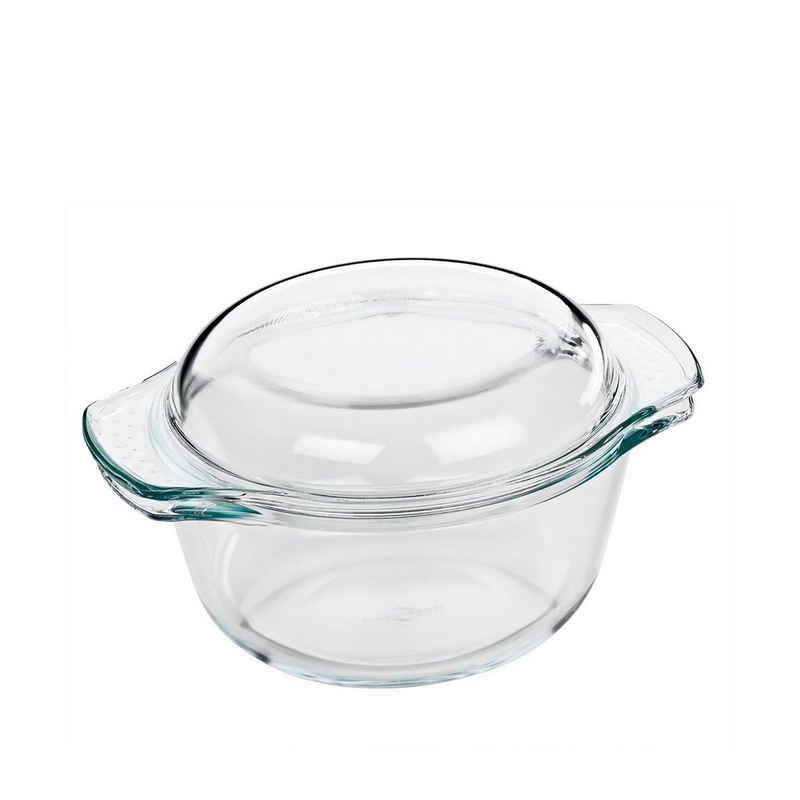 Küchenprofi Auflaufform »Auflaufform mit Deckel Elsass«, Glas, (1-St)