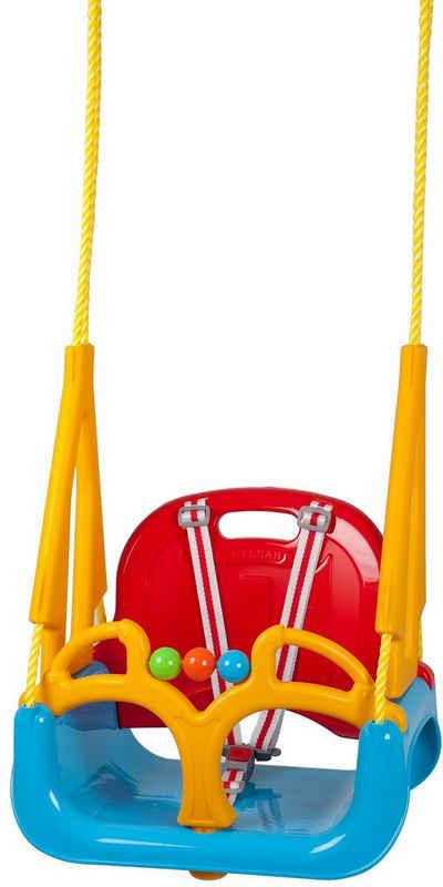 BabyGo Einzelschaukel »DoReMi, rot«, 3in1; Babyschaukel, Schaukelsitz und Schaukelbrett in Einem