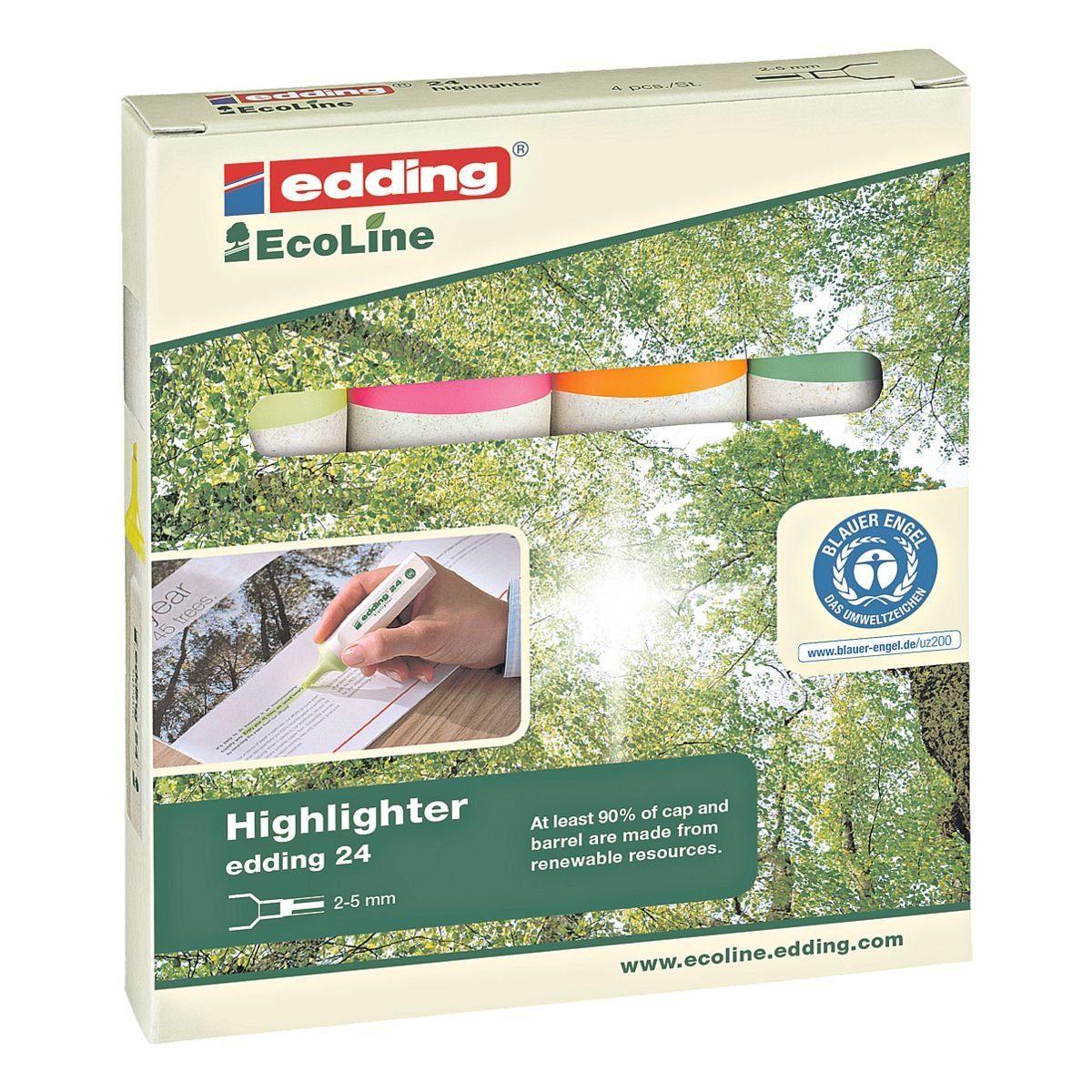edding 4er-Pack Textmarker »E24«