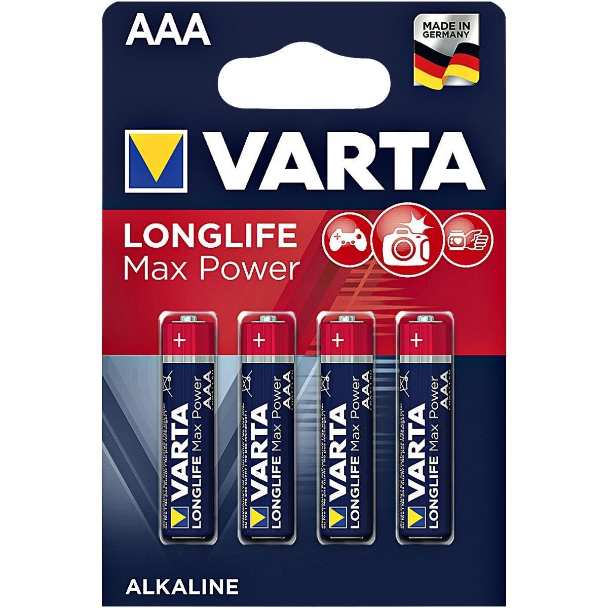 Varta 4er-Pack Batterien »Max Tech« Micro / AAA / LR03