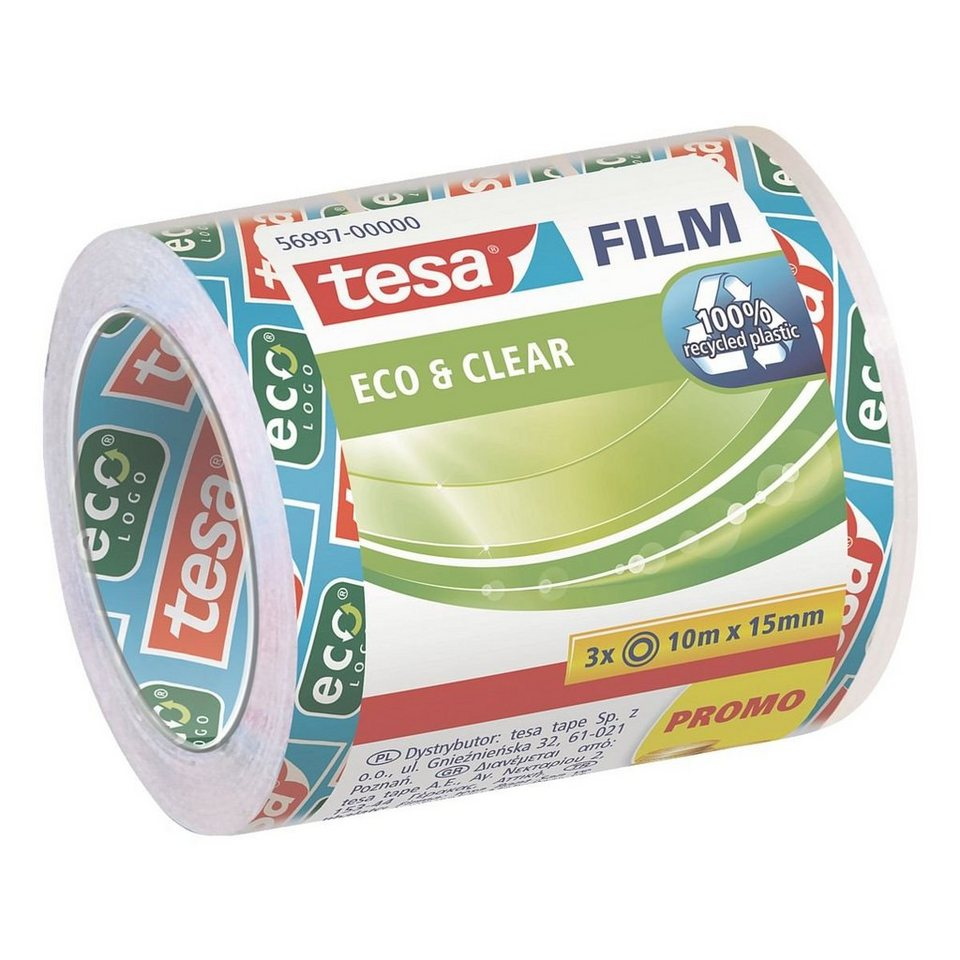tesa 3er-Pack Klebeband »eco & clear«
