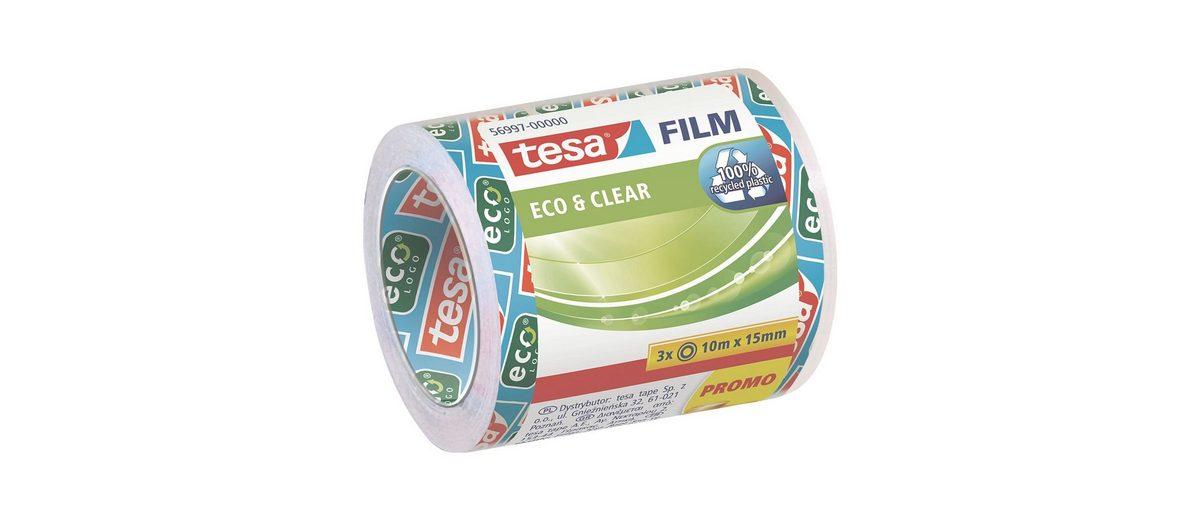 tesa 3er-Pack Klebeband »eco & clear«