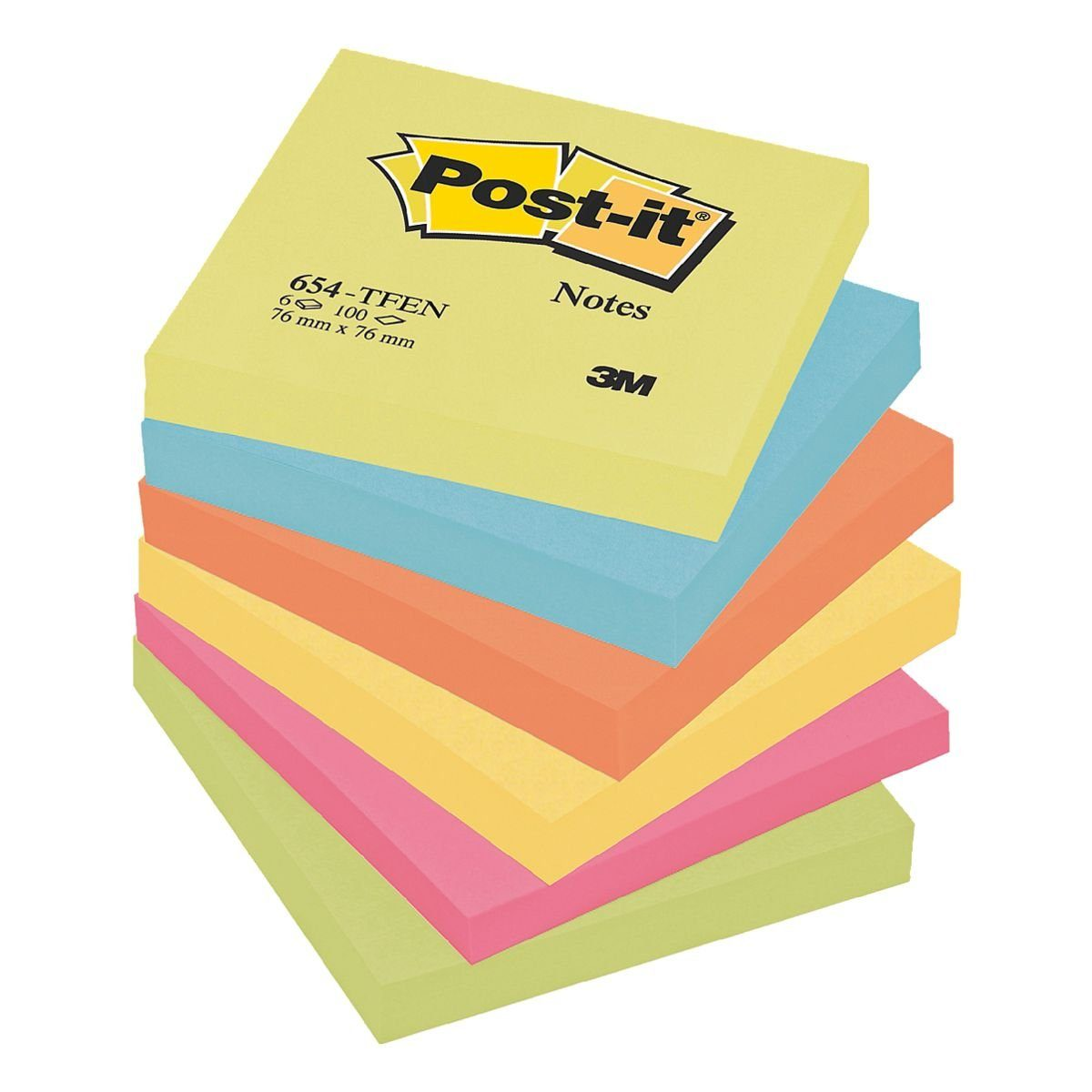 Post-it Notes 6er-Pack Haftnotizblöcke »Active Collection 654«