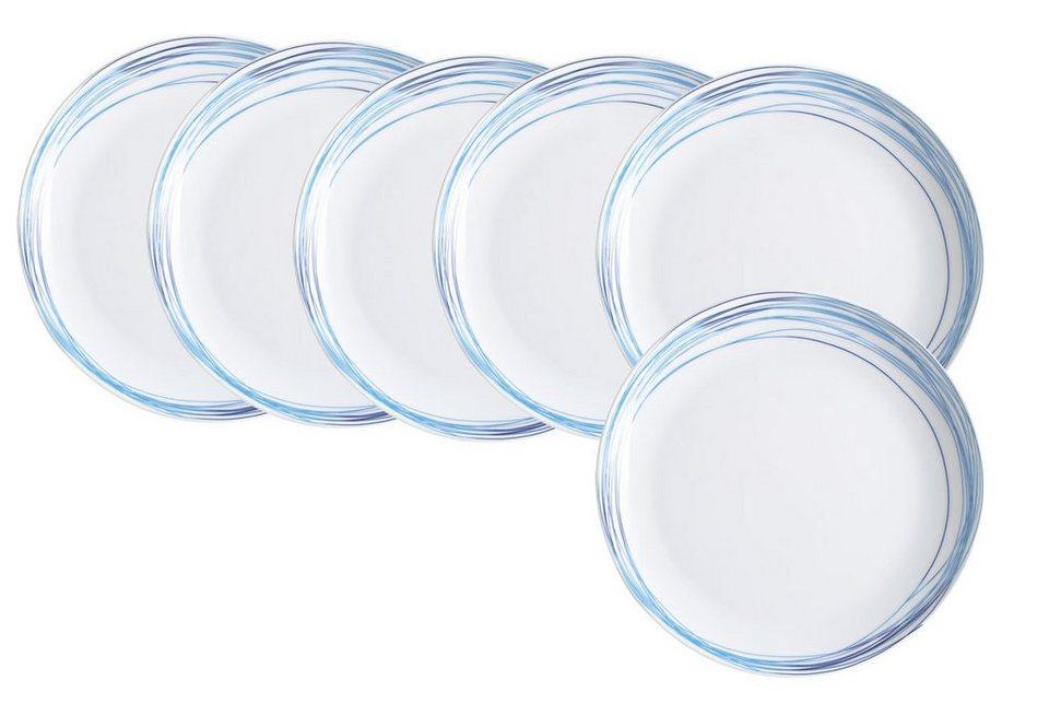 Kahla Set: Frühstücksteller 6er-Set »Five Senses Whirl« in Blau, Türkis