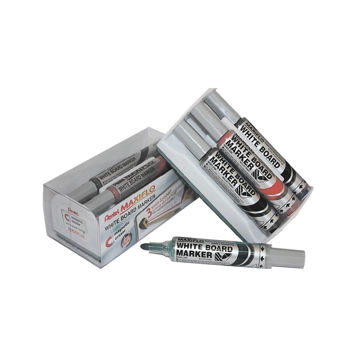 Pentel 4er-Pack Whiteboard-Marker »Maxiflo«