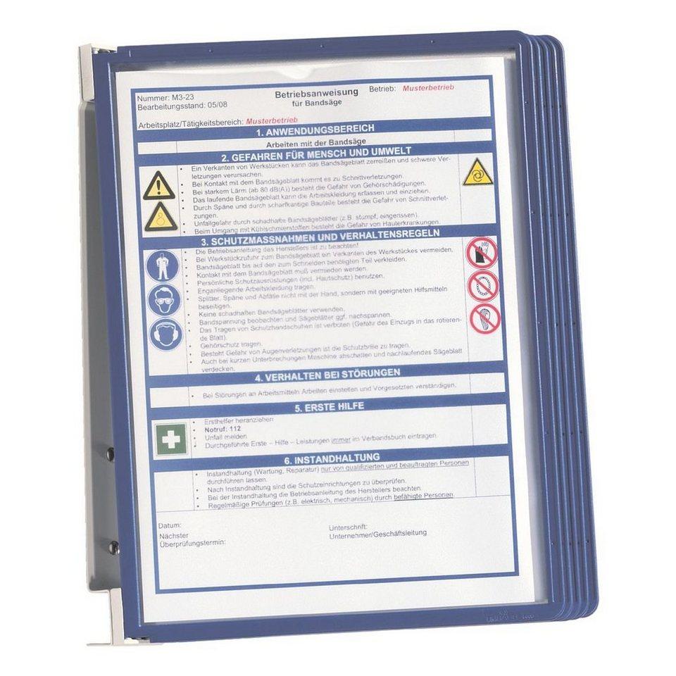 Durable Sichttafelwandhalter »Vario®« in dunkelblau