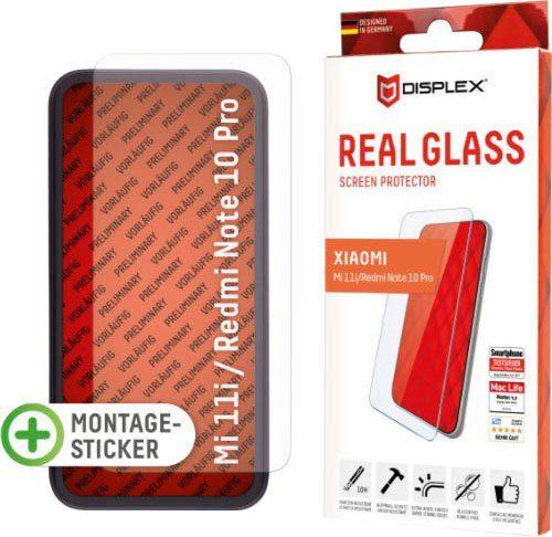 Displex »Real Glass für Xiaomi Mi 11i/Redmi Note 10 Pro (6,7), 2D« für Xiaomi Mi 11i/Redmi Note 10 Pro, Displayschutzglas