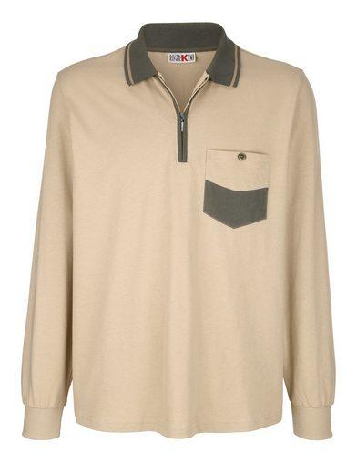 Roger Kent Poloshirt mit Brusttasche