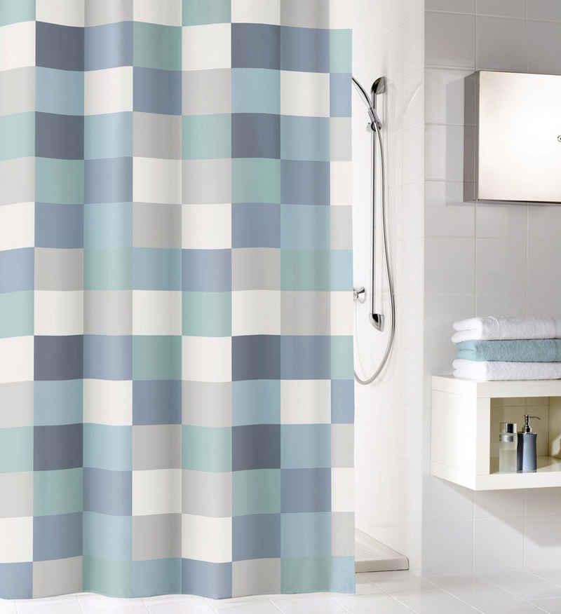 Kleine Wolke Duschvorhang »Check« Breite 120 cm (1-tlg), inklusive Duschvorhangringe