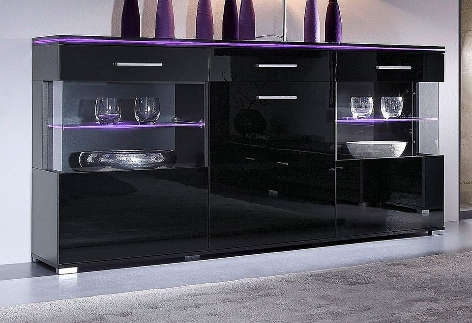 sideboard breite 150 cm hochglanz online kaufen otto. Black Bedroom Furniture Sets. Home Design Ideas