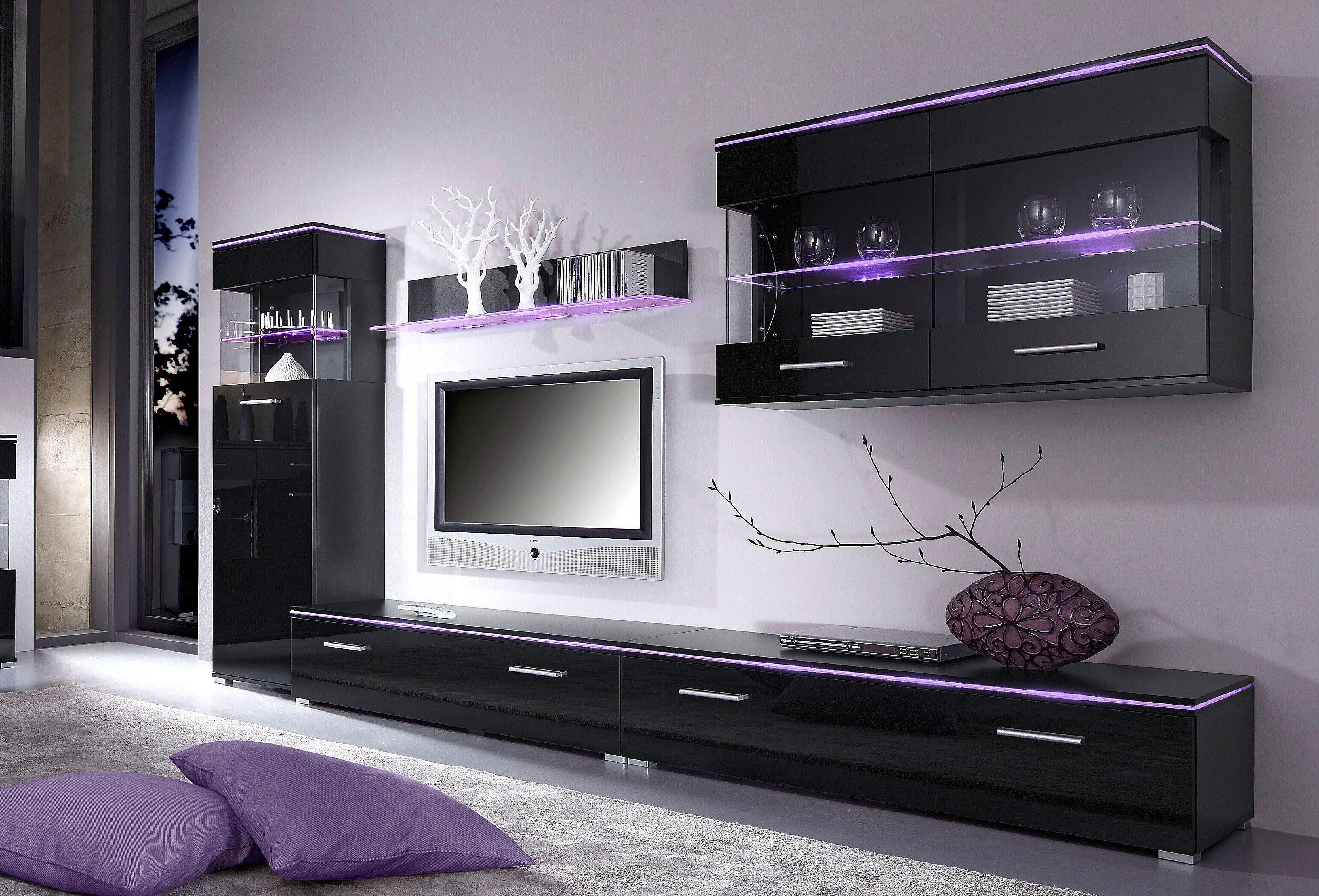 Wohnwand design holz gispatcher