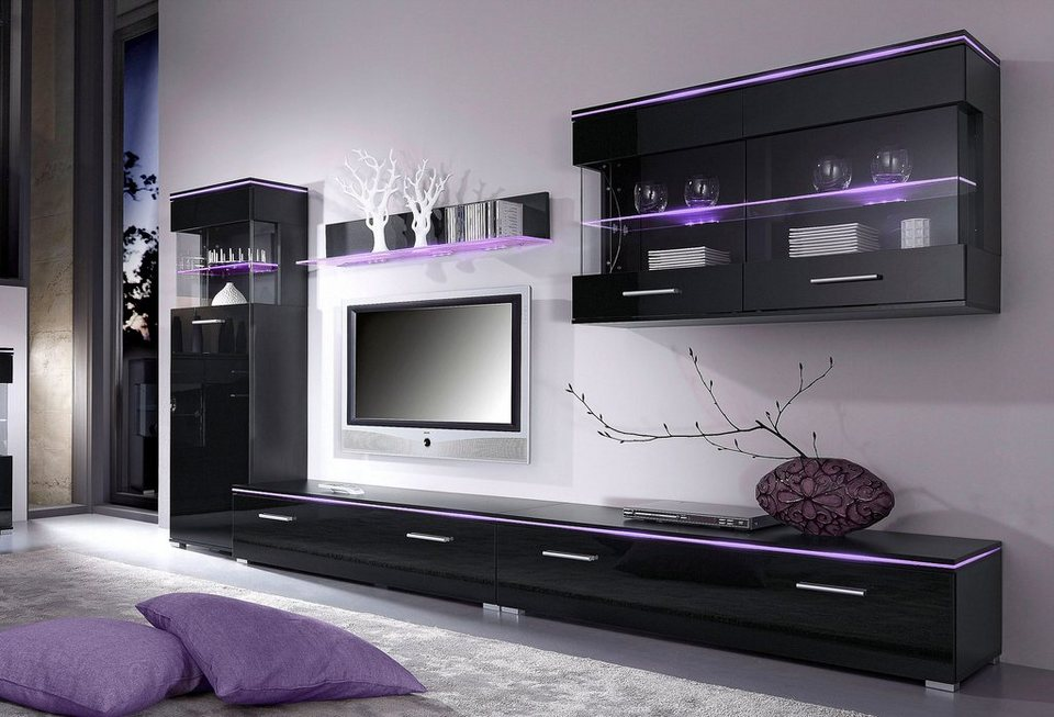 spar set wohnwand 5 tlg online kaufen otto. Black Bedroom Furniture Sets. Home Design Ideas
