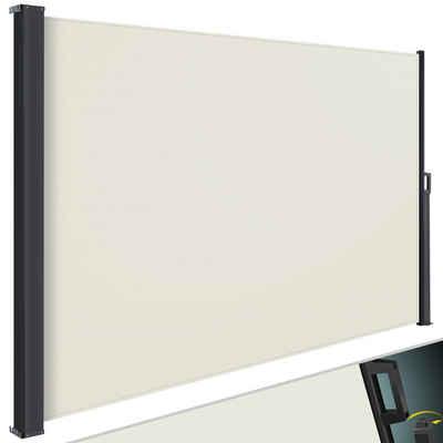 KESSER Seitenmarkise Markise ausziehbar Blickdicht Sichtschutz & Windschutz für Garten Balkon & Terrasse Seitenrollo mit Wandhalterung