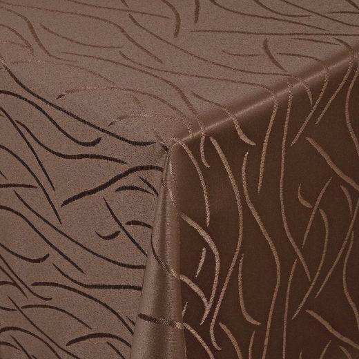Moderno Tischdecke »Tischdecke Stoff Damast Streifen Design Jacquard mit Saum«, Eckig 80x80 cm