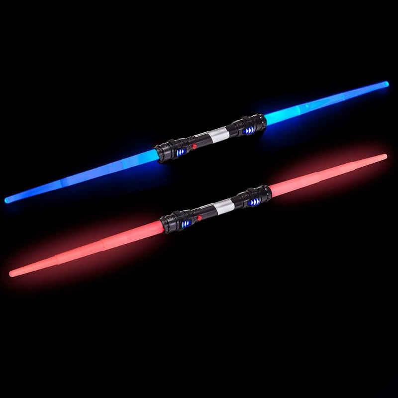 Goods+Gadgets Lichtschwert »Doppelklingen Laserschwert« (Laser Sword, 138 cm), mit Licht & Sound