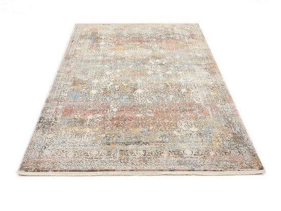Teppich »BESTELLER CAVA«, OCI DIE TEPPICHMARKE, rechteckig, Höhe 8 mm, Glanz Viskose, mit Fransen, Wohnzimmer