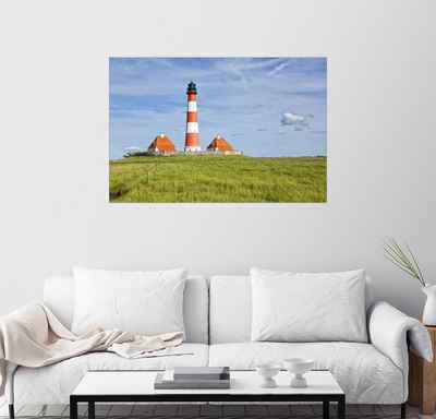 Posterlounge Wandbild, Westerhever Leuchtturm an der Nordseeküste