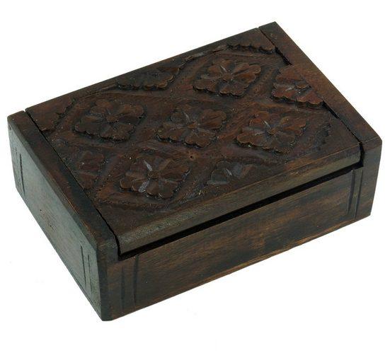Guru-Shop Aufbewahrungsdose »Beschnitzte Holzdose«