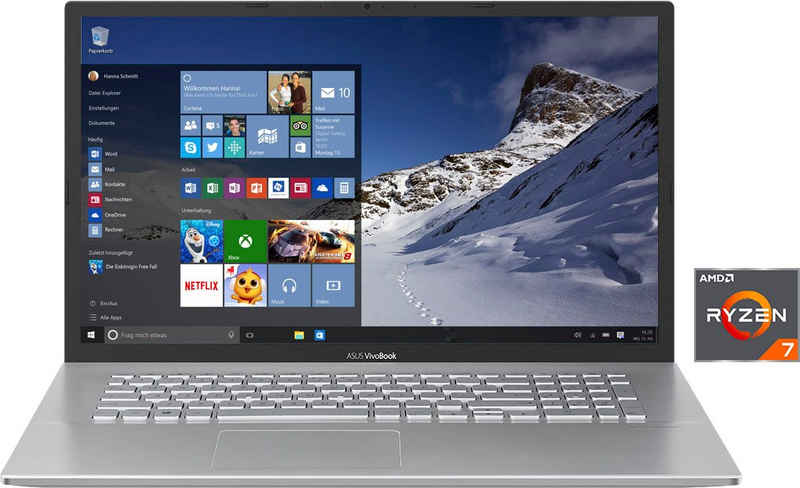 Asus S712DA-BX356T Notebook (43,94 cm/17,3 Zoll, AMD Ryzen 7 3700U, Radeon RX Vega 10, 512 GB SSD, Kostenloses Upgrade auf Windows 11, sobald verfügbar)